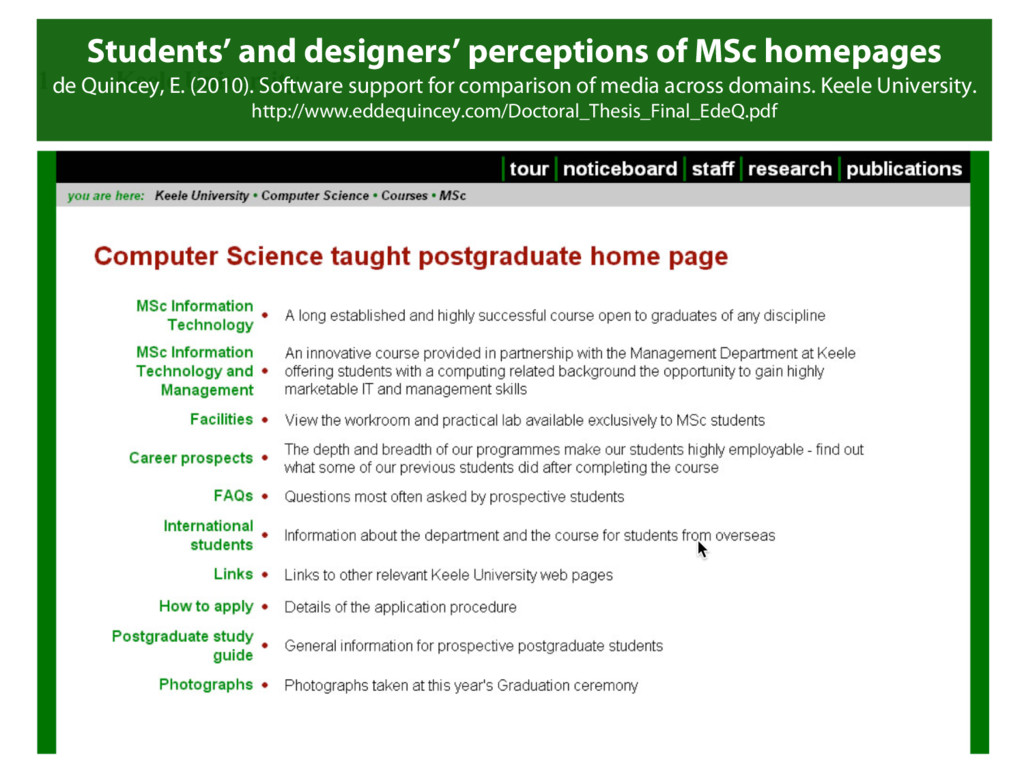 Students' and designers' perceptions of MSc hom...