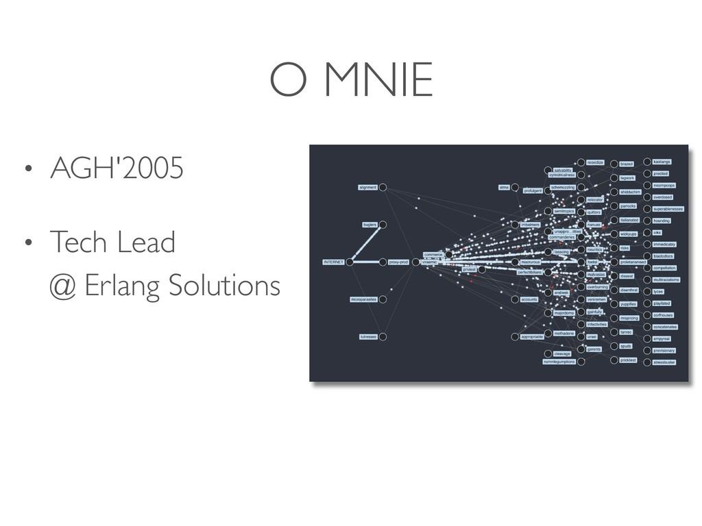 O MNIE • AGH'2005 • Tech Lead @ Erlang Solutio...