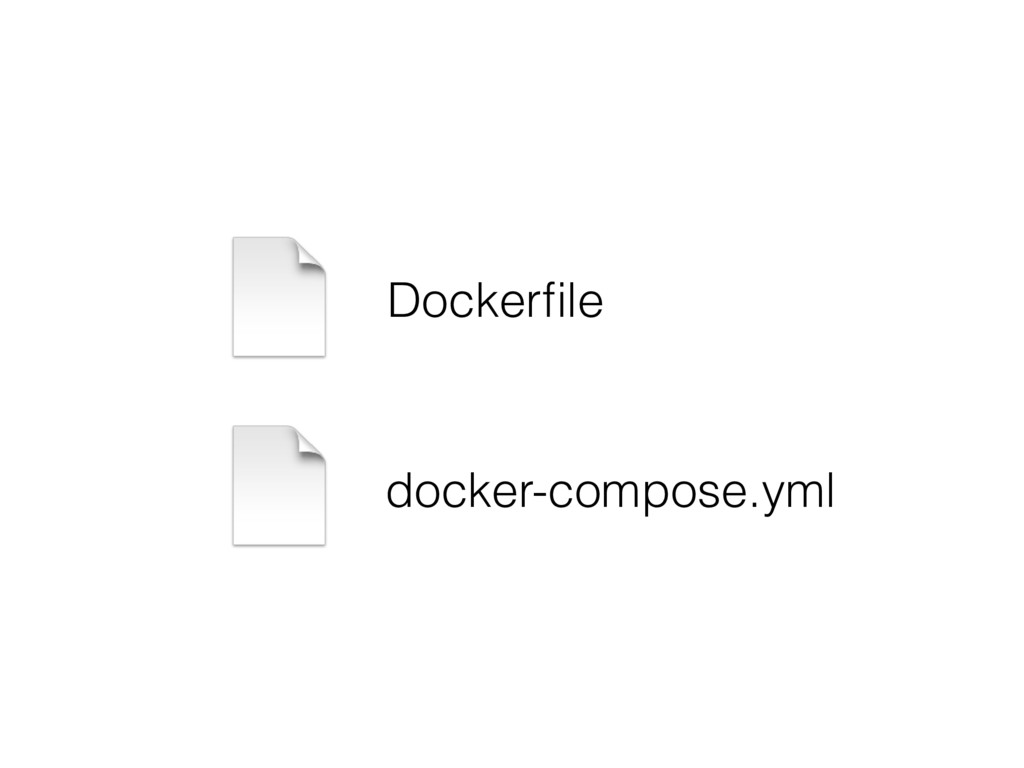 Dockerfile docker-compose.yml