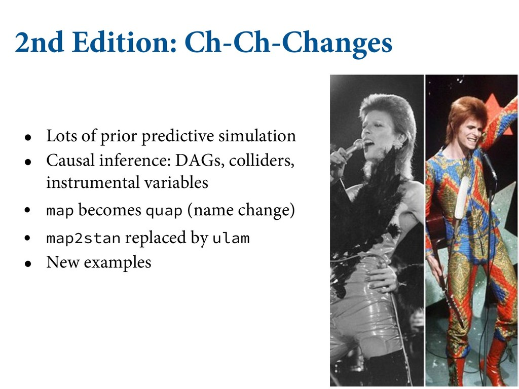2nd Edition: Ch-Ch-Changes • Lots of prior pred...