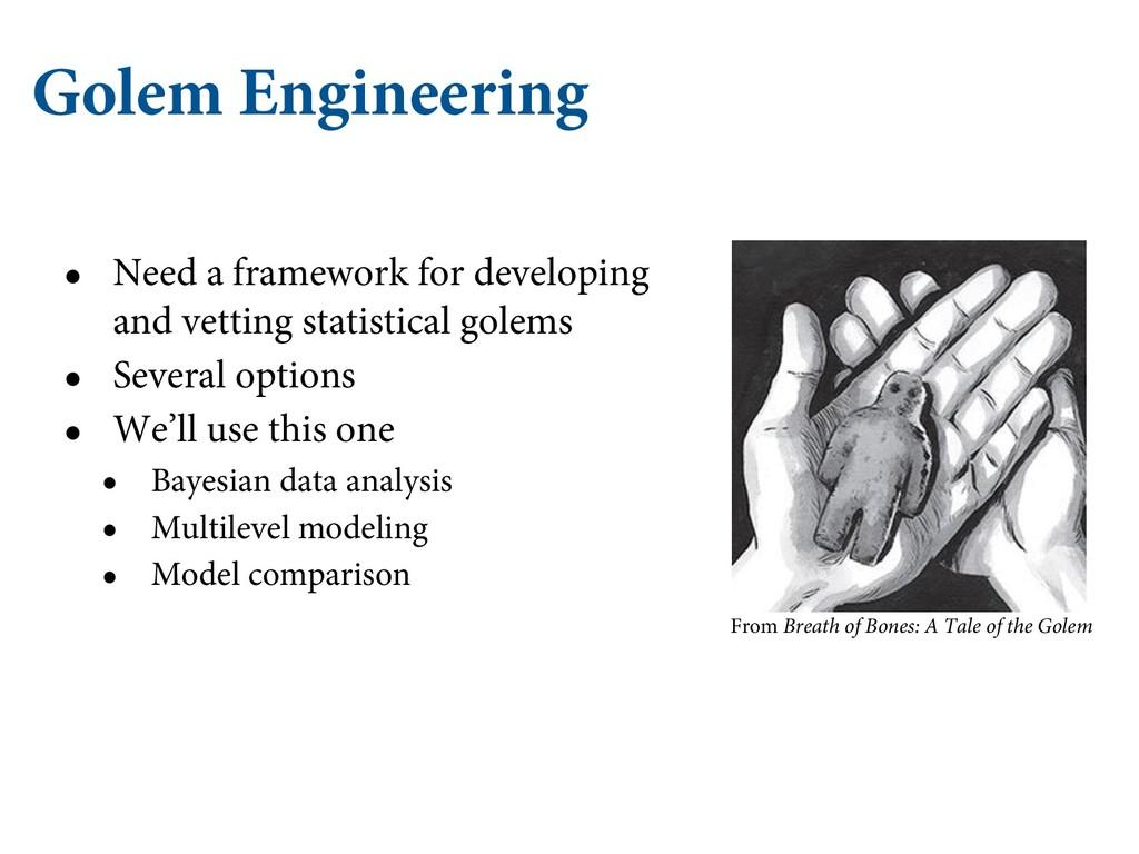 Golem Engineering • Need a framework for develo...
