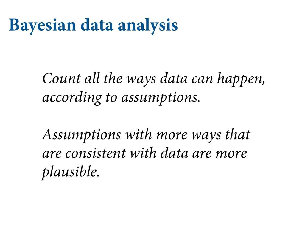 Bayesian data analysis Count all the ways data ...