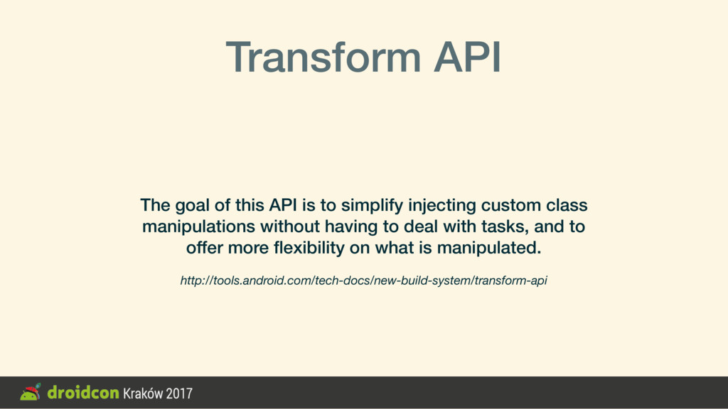 Transform API The goal of this API is to simpli...