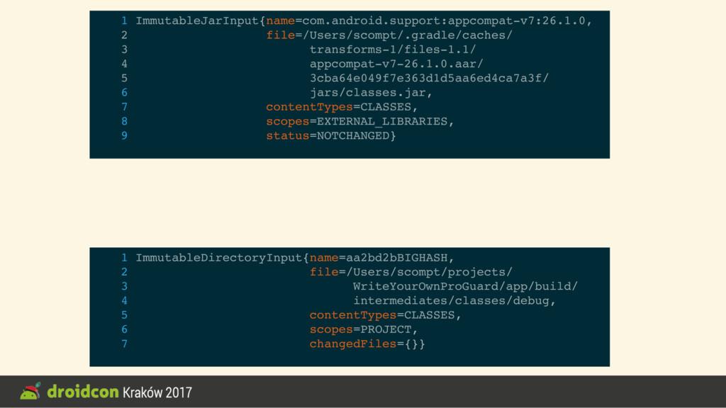 1 ImmutableJarInput{name=com.android.support:ap...