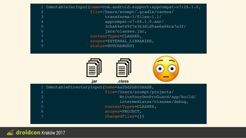 .jar .class 1 ImmutableJarInput{name=com.androi...