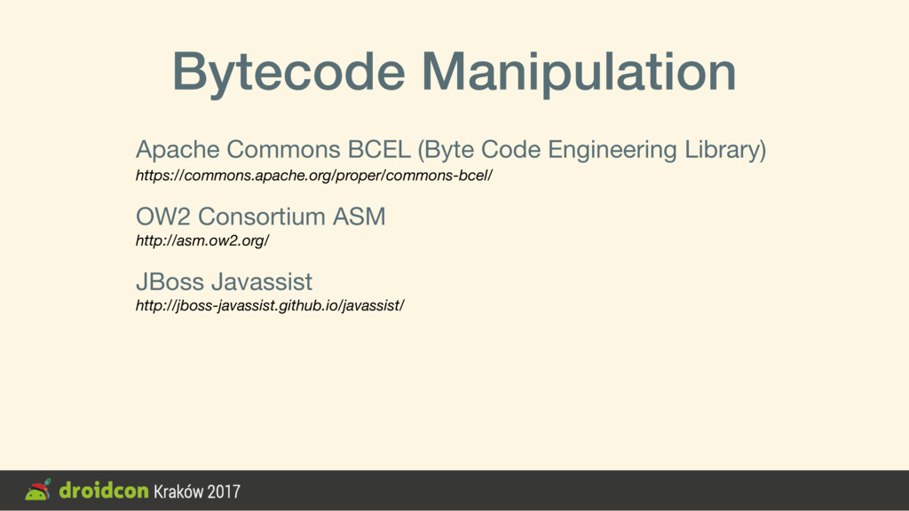 Bytecode Manipulation Apache Commons BCEL (Byte...