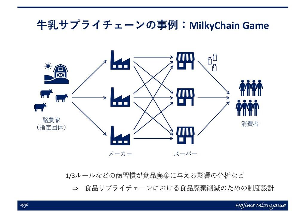 ⽜乳サプライチェーンの事例:MilkyChain Game 47 Hajime Mizuyam...