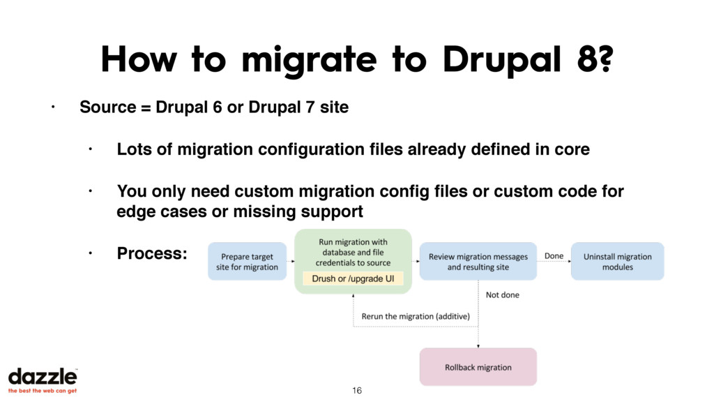 How to migrate to Drupal 8? • Source = Drupal 6...