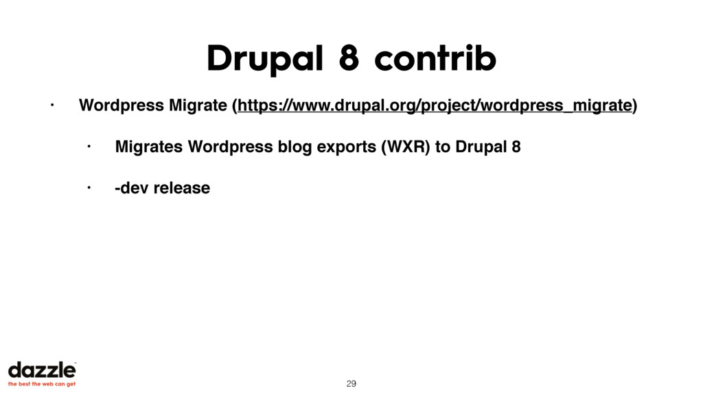 Drupal 8 contrib • Wordpress Migrate (https://w...