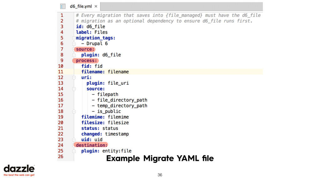 Example Migrate YAML file 36