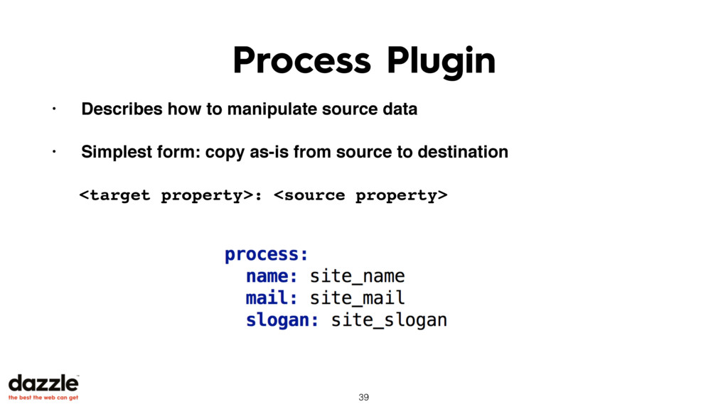 Process Plugin • Describes how to manipulate so...