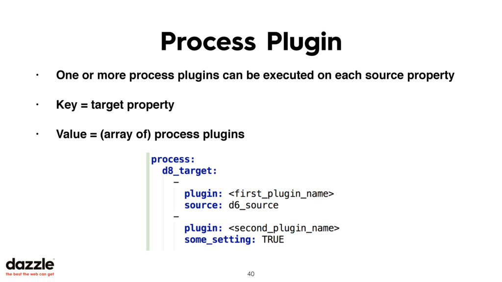 Process Plugin • One or more process plugins ca...