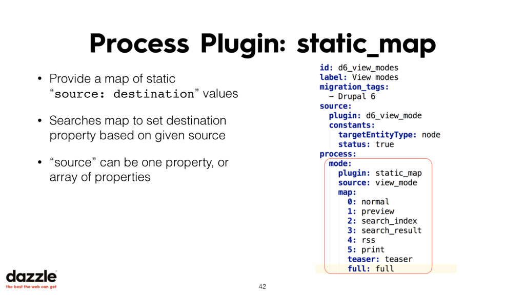 Process Plugin: static_map • Provide a map of s...