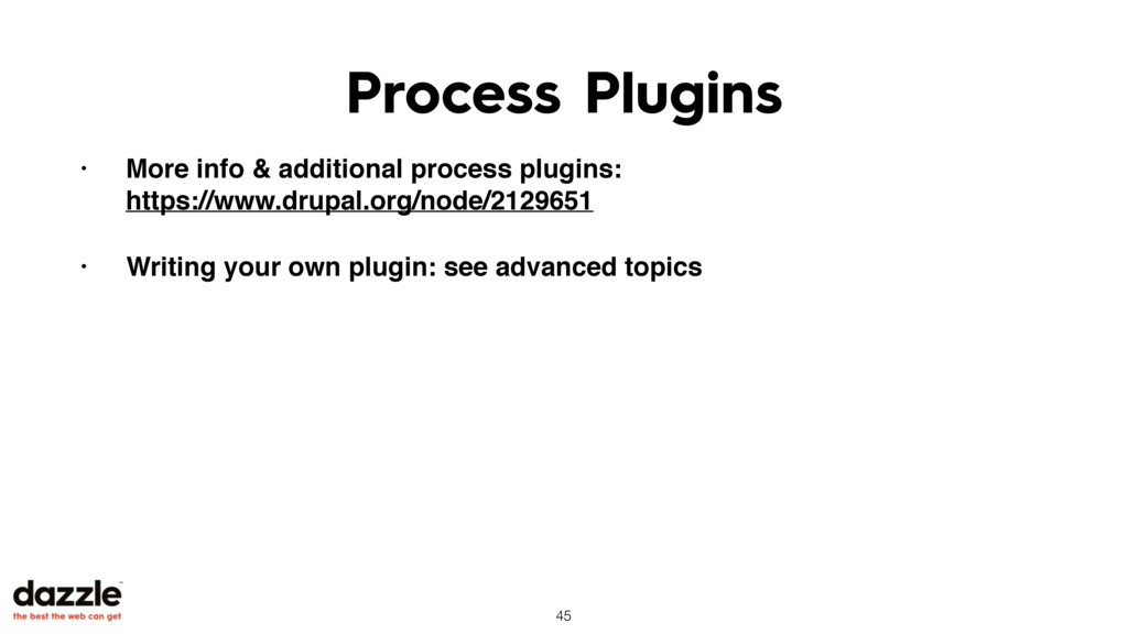 Process Plugins • More info & additional proces...