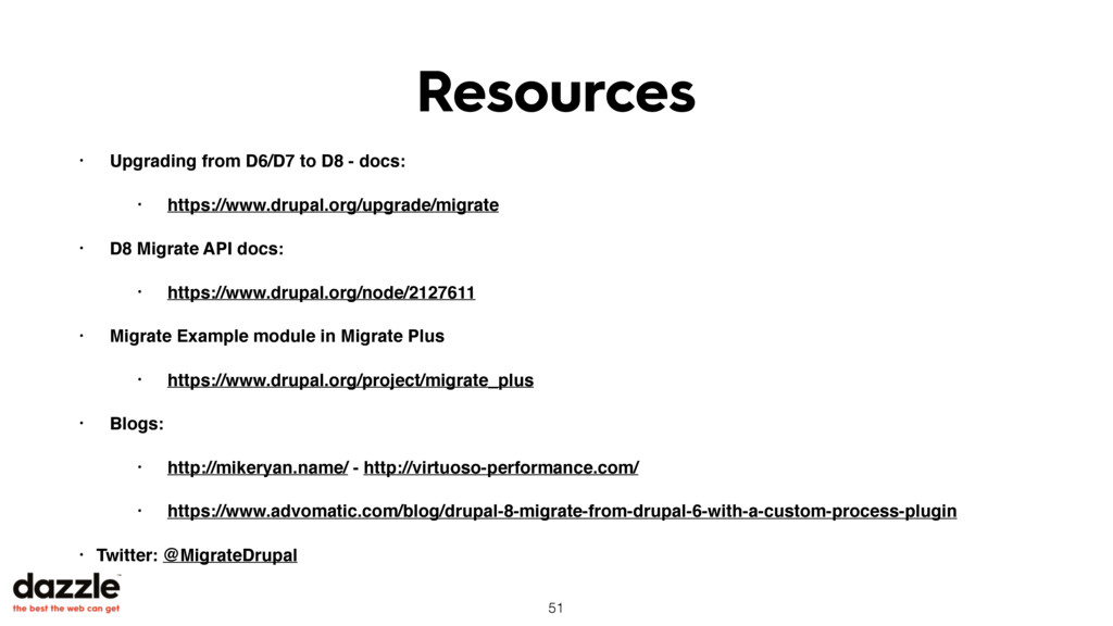 Resources • Upgrading from D6/D7 to D8 - docs: ...