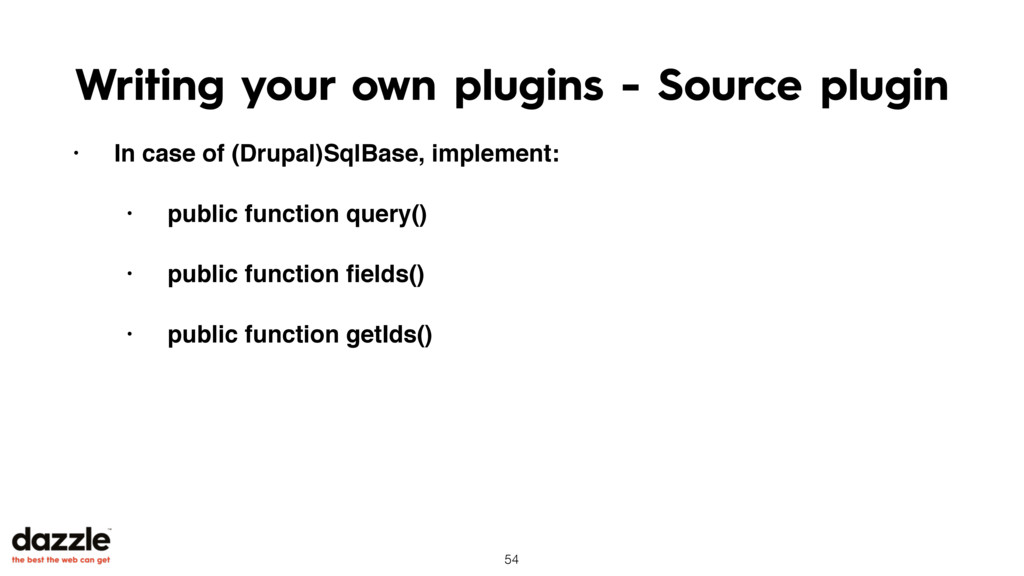Writing your own plugins - Source plugin • In c...