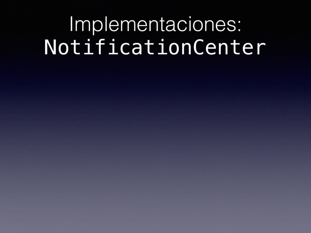 Implementaciones: