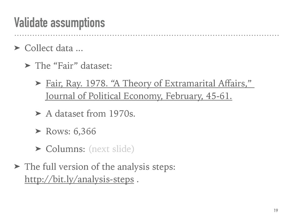 "Validate assumptions ➤ Collect data ... ➤ The ""..."