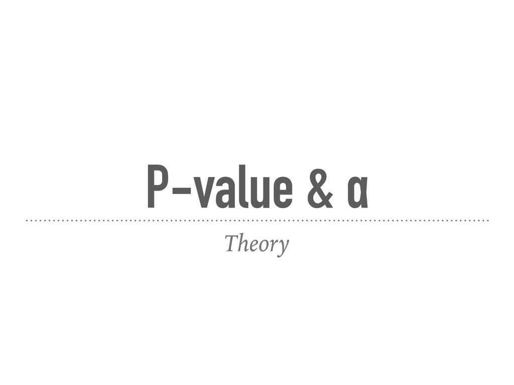 P-value & α Theory