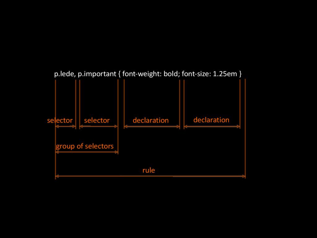 p.lede,'p.important'{'fontOweight:'bold;'fontOs...