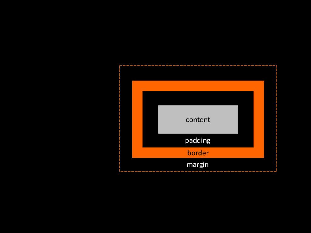 content border margin padding