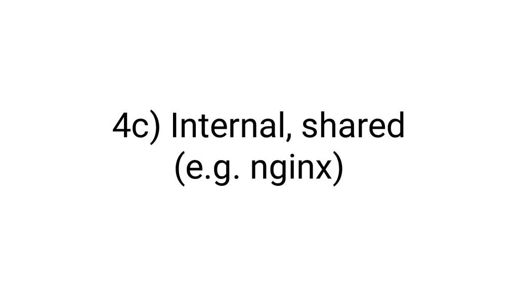 4c) Internal, shared (e.g. nginx)