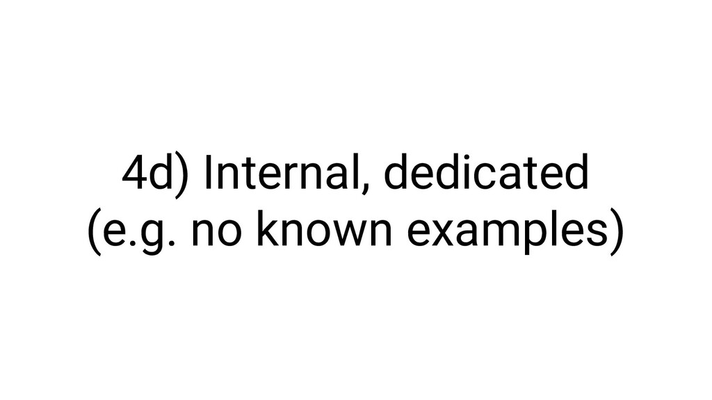 4d) Internal, dedicated (e.g. no known examples)