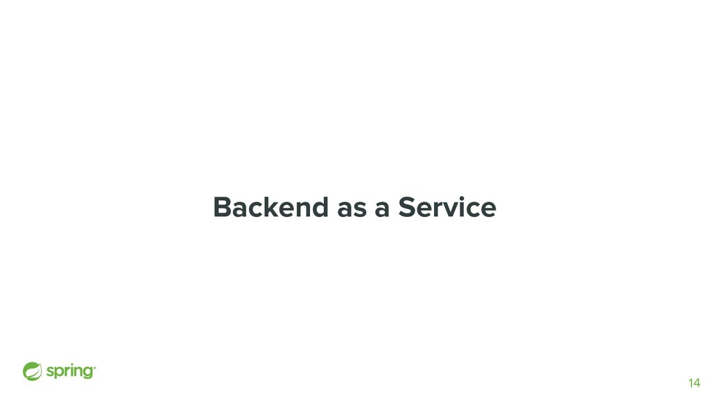 Backend as a Service 14