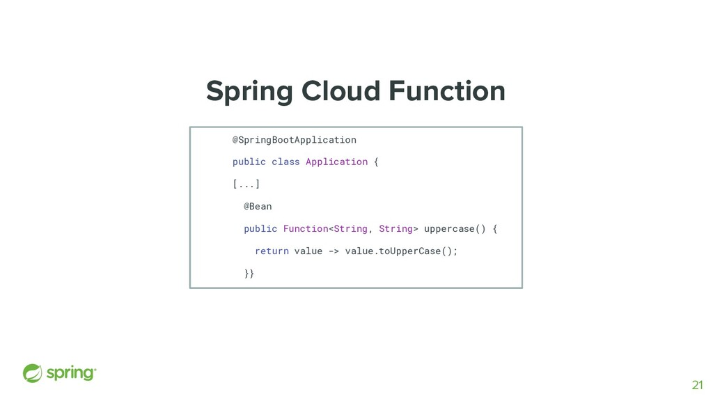 Spring Cloud Function @SpringBootApplication pu...