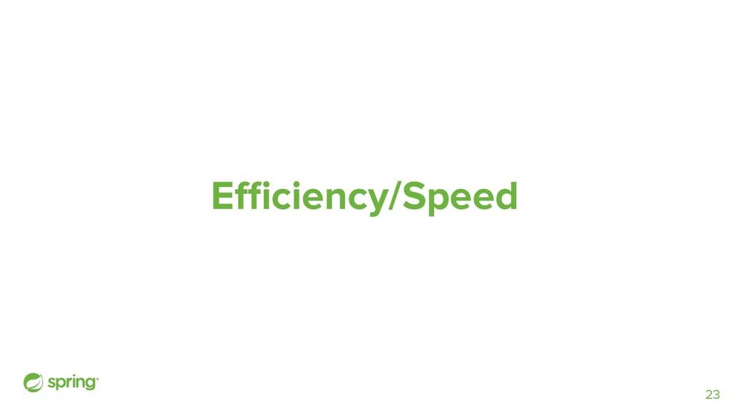 Efficiency/Speed 23