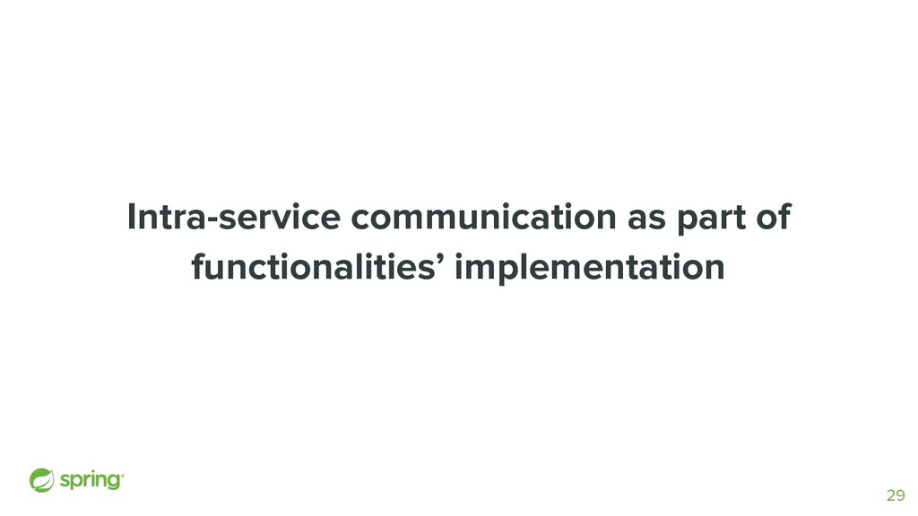 Intra-service communication as part of function...