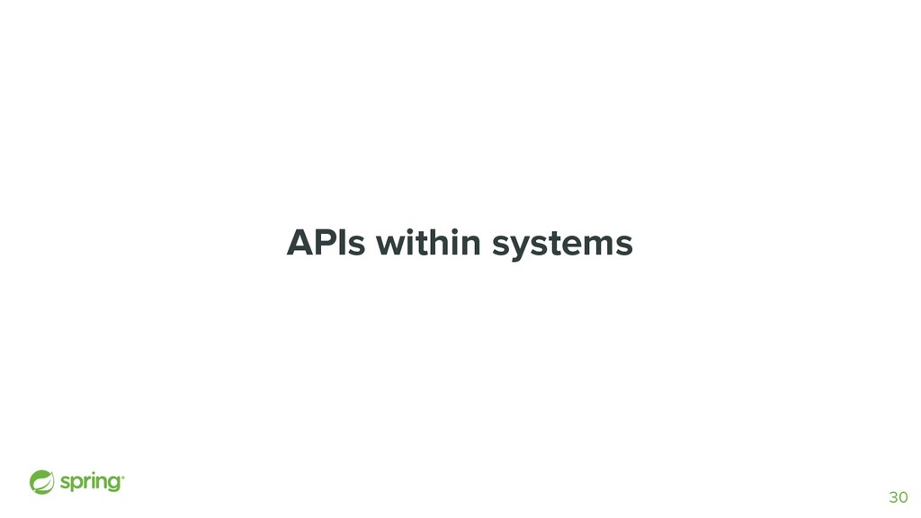 APIs within systems 30
