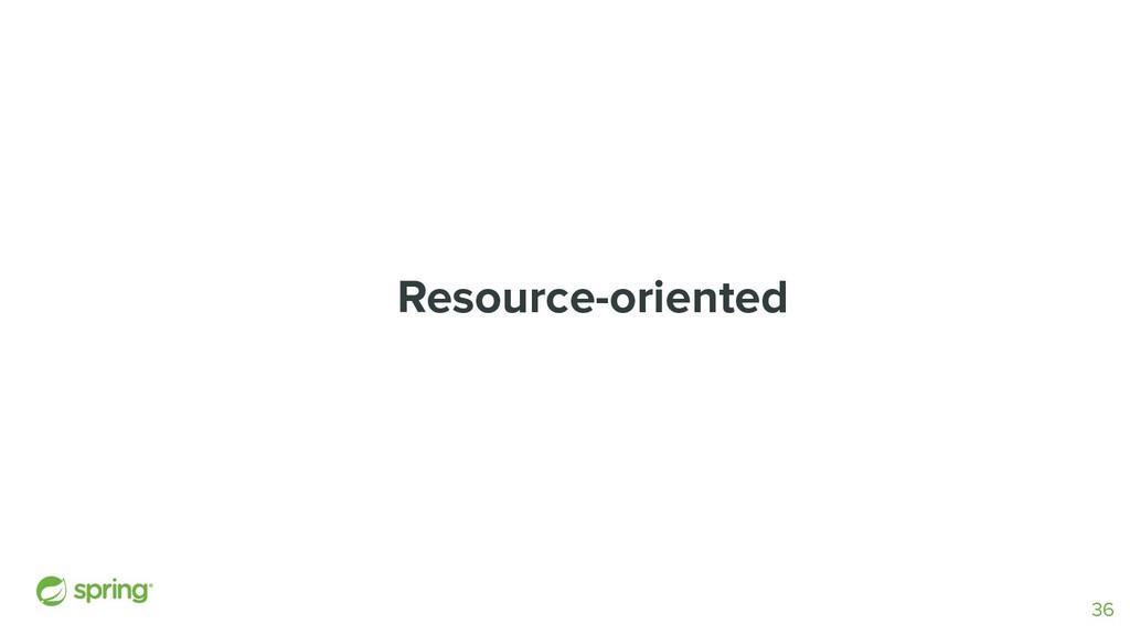 Resource-oriented 36