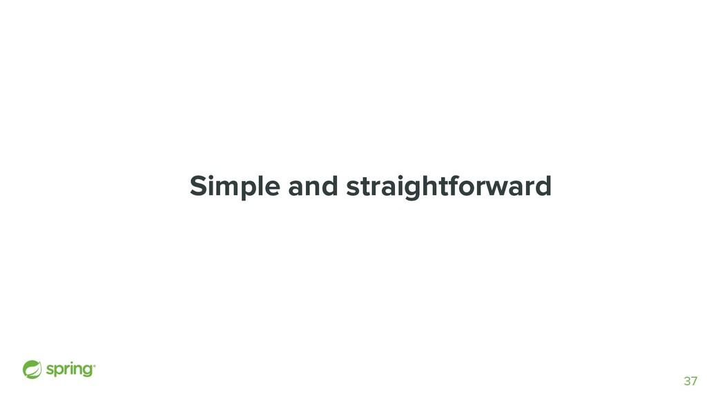 Simple and straightforward 37