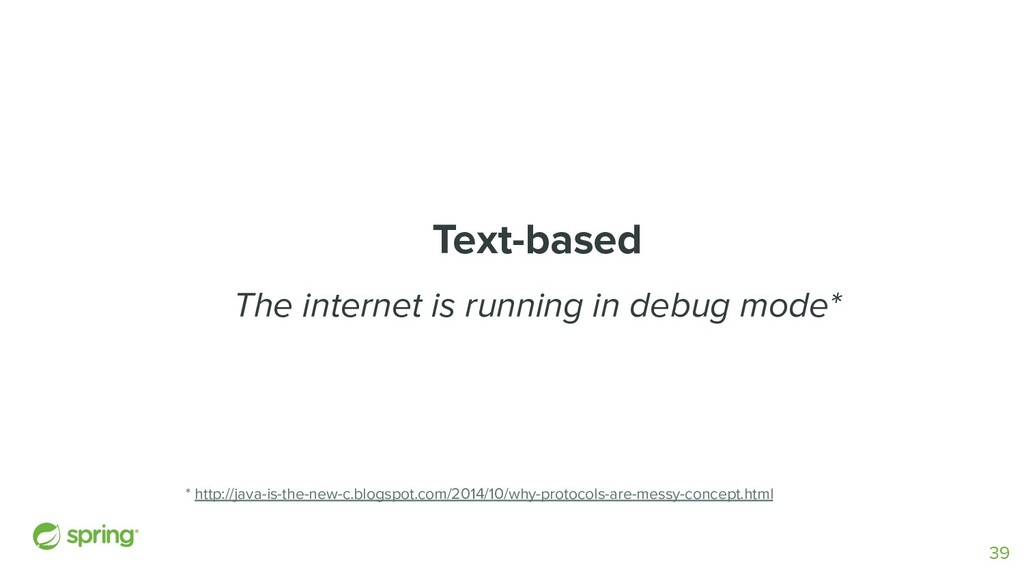 Text-based The internet is running in debug mod...