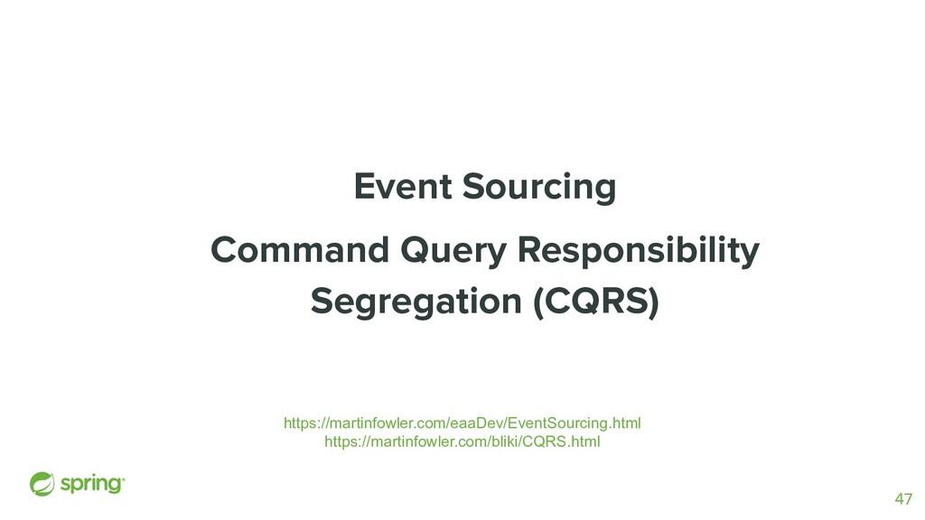Event Sourcing Command Query Responsibility Seg...
