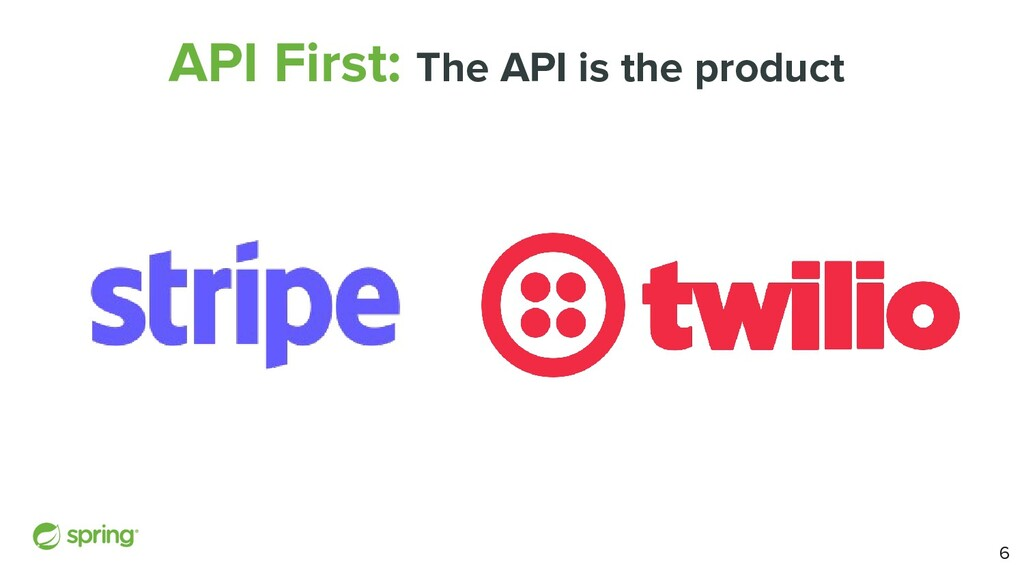 API First: The API is the product 6