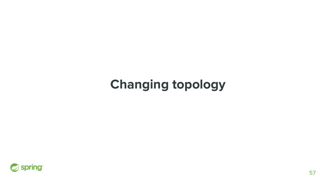 Changing topology 57