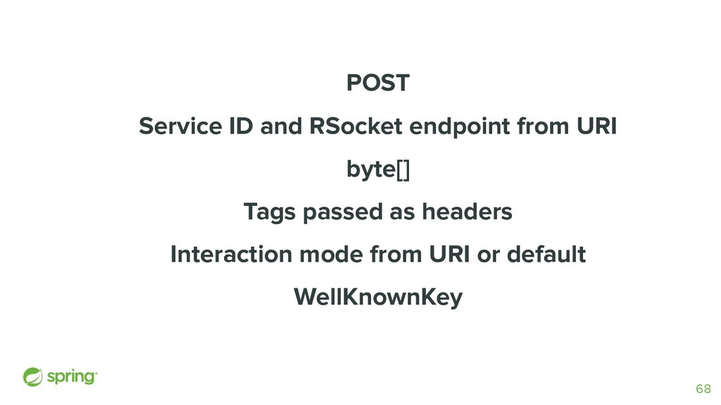 POST Service ID and RSocket endpoint from URI b...