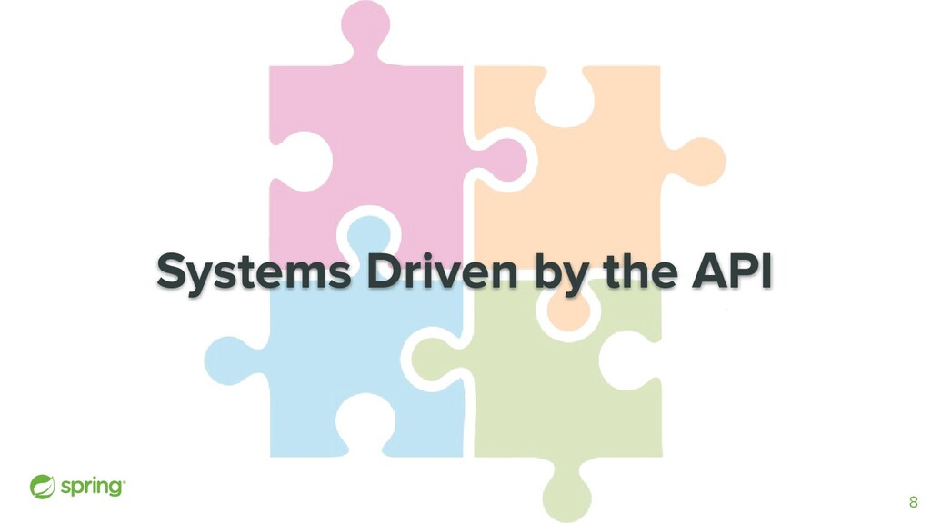 Systems Driven by the API 8