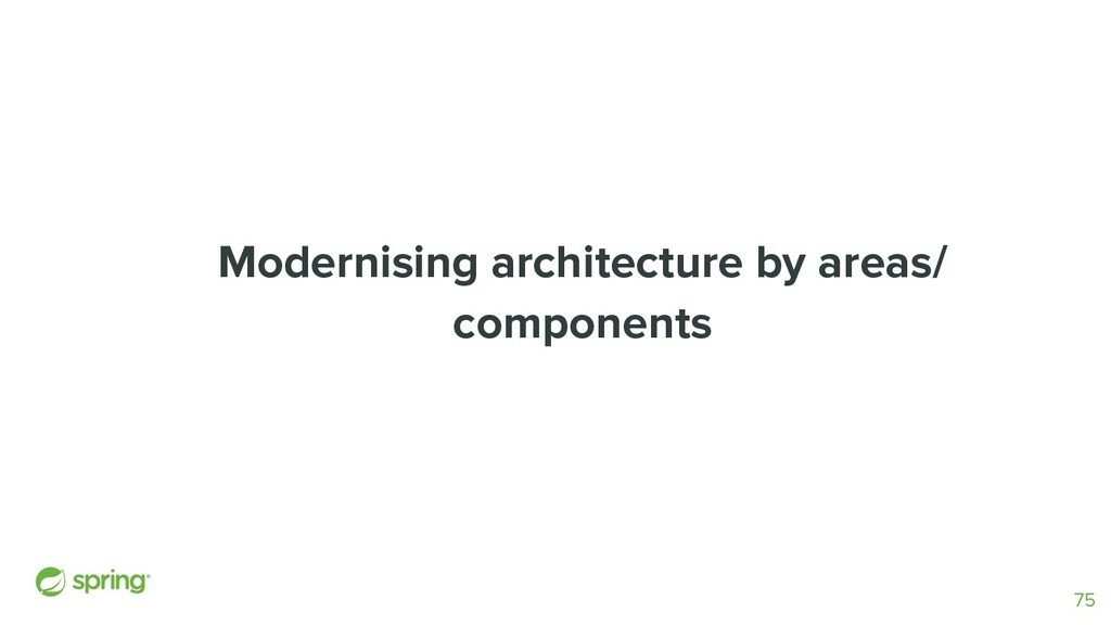 Modernising architecture by areas/ components 75