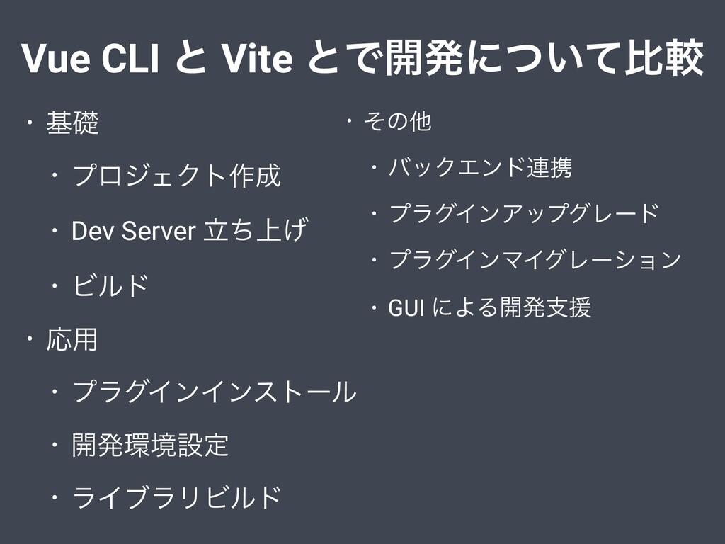 Vue CLI ͱ Vite ͱͰ։ൃʹ͍ͭͯൺֱ • جૅ • ϓϩδΣΫτ࡞ • Dev...