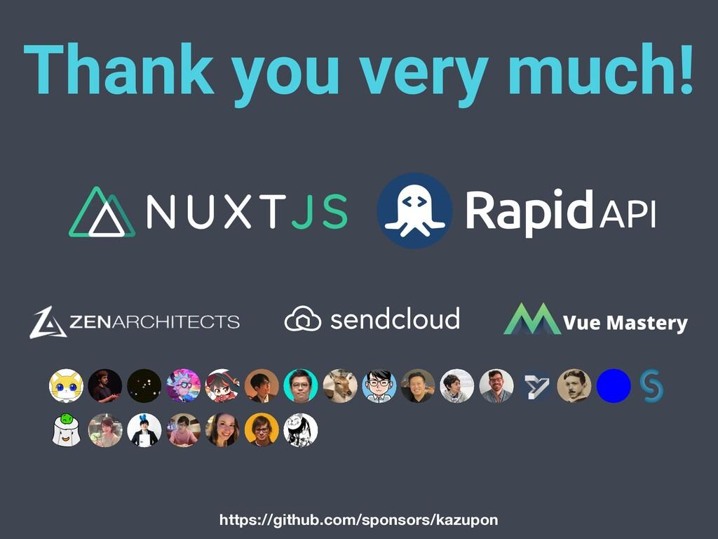Thank you very much! https://github.com/sponsor...