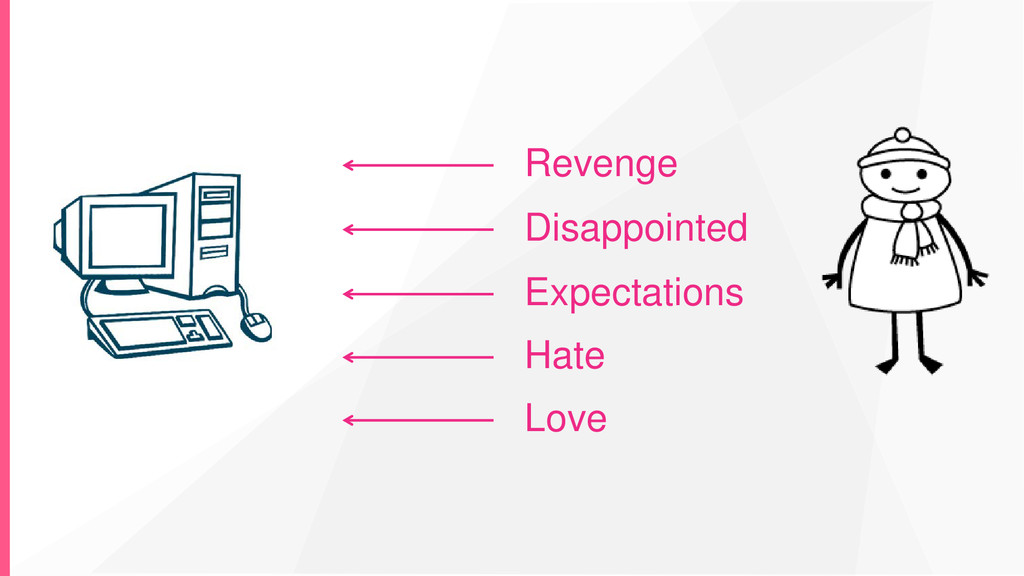 Love Hate Expectations Disappointed Revenge