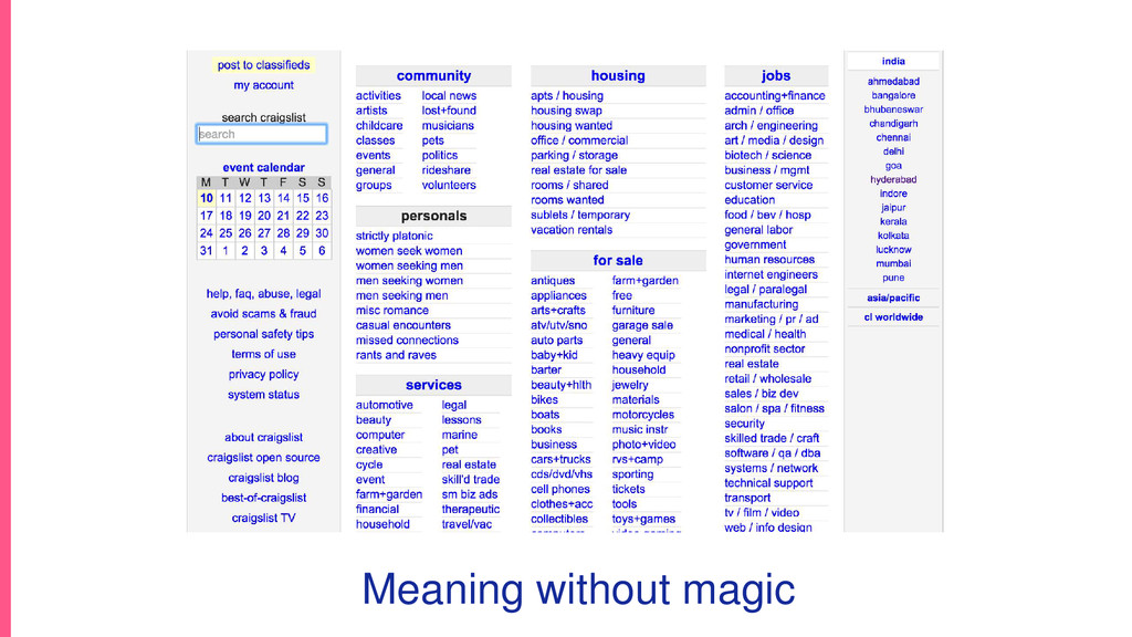 Meaning without magic