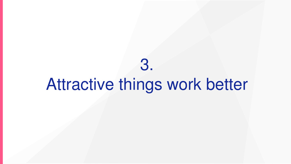 3. Attractive things work better