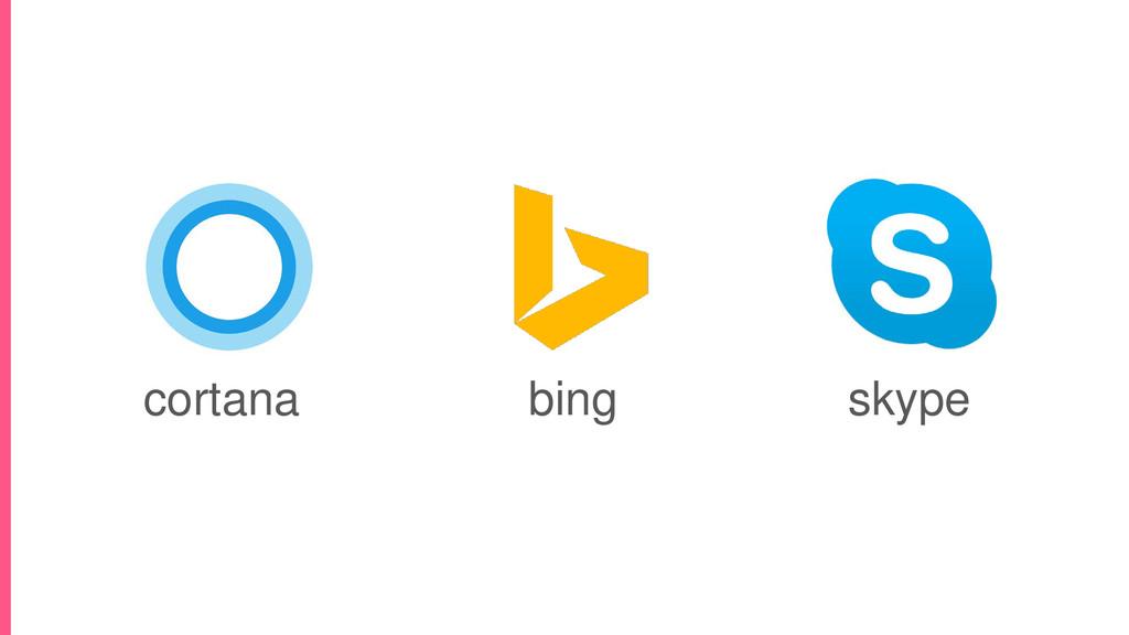 cortana skype bing