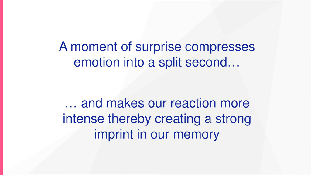 A moment of surprise compresses emotion into a ...