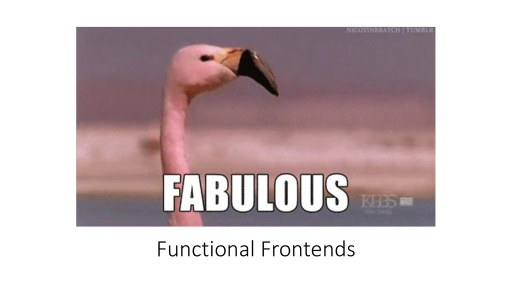 Functional Frontends
