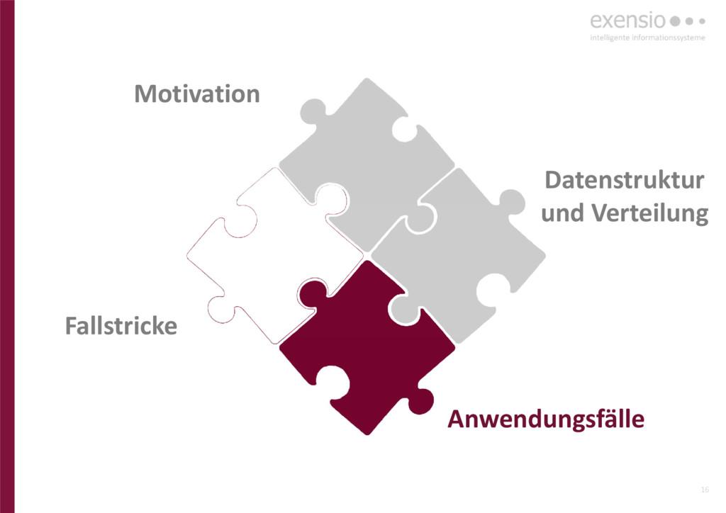 16 Anwendungsfälle Datenstruktur und Verteilung...
